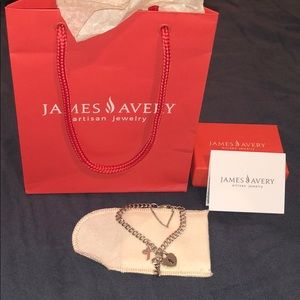 James Avery bracelet with charms